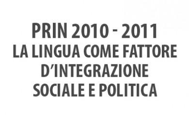 PRIN 2010-2011 Lingua